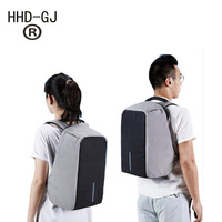 HHD GJ New Arrive Anti theft Notebook Backpack 17.3 inch Waterproof Computer Backpack Men Women Laptop Bag External USB Charge