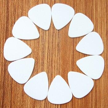 custom made 100pcs Guitar Picks Custom Guitar plectrum  Accessories guitar picks custom logo 0.46 0.71 1.00mm white guitar pick