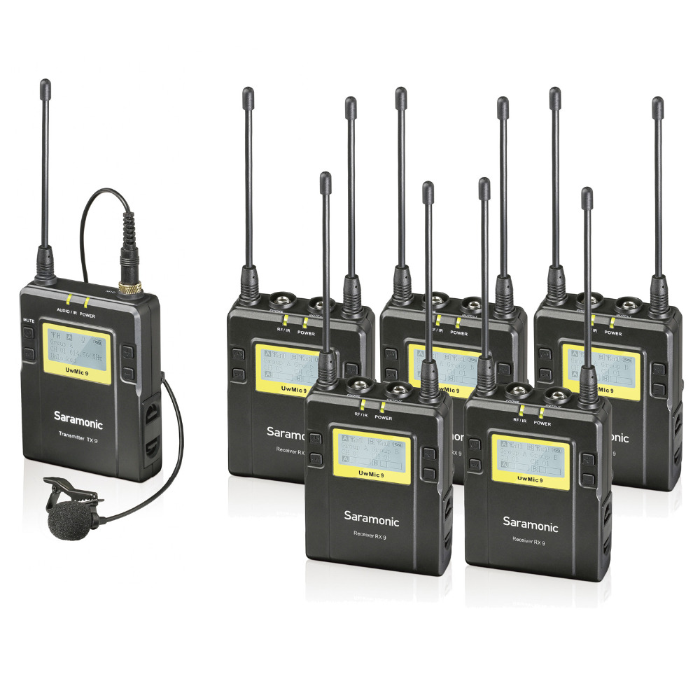 wireless uhf lav microphone audio monitor system for recording studio monitoring on stage. Black Bedroom Furniture Sets. Home Design Ideas