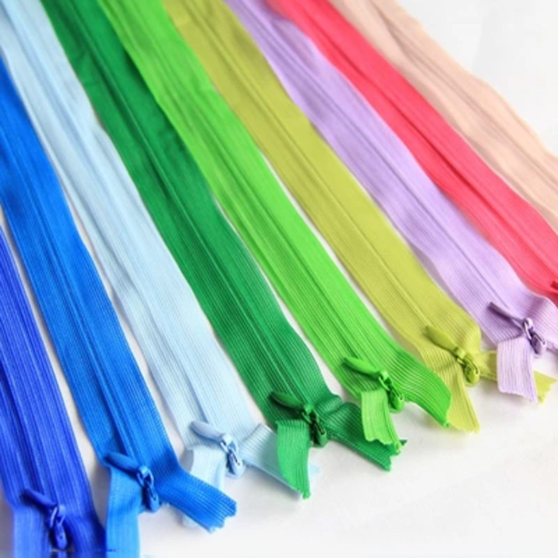 50PCS Zippers Alipress 40cm Invisible Zippers  3# DIY Nylon Coil Zipper For Sewing CushionBack Tailor Tools