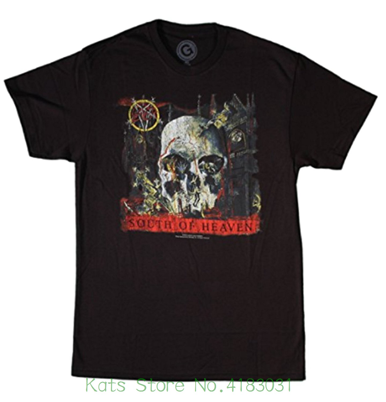 Global Merchandising Mens South Of Heaven Short Sleeve T-shirt 100% Cotton Men Women T Shirt Tees Custom