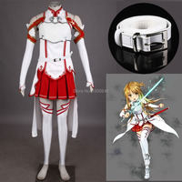 Athemis Sword Art Online Asuna Anime Cosplay Costume high quality any size outfit custom made