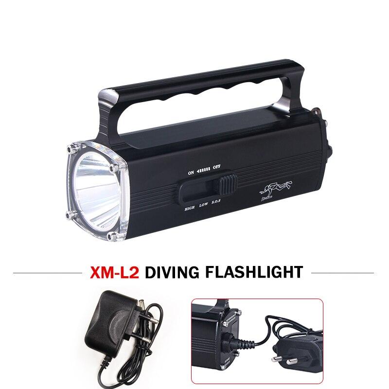 100 m scuba search underwater light led diving flashlight portable lantern portable light torch cree xm l2 rechargeable battery
