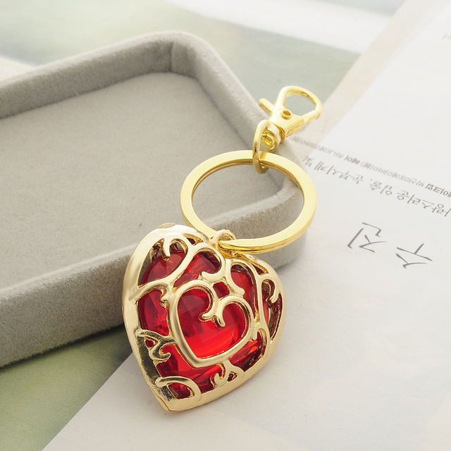 The Legend of Zelda Blue Red Hollow Heart Pendant & Necklace