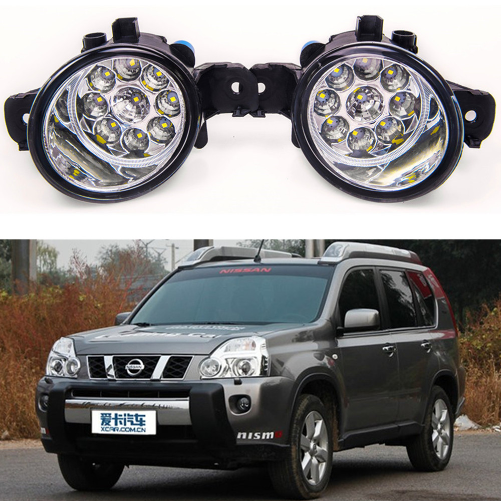 For NISSAN X-TRAIL (T31) 2007-2015 Car styling High brightness LED fog lights DRL lights 1SET for lexus rx gyl1 ggl15 agl10 450h awd 350 awd 2008 2013 car styling led fog lights high brightness fog lamps 1set