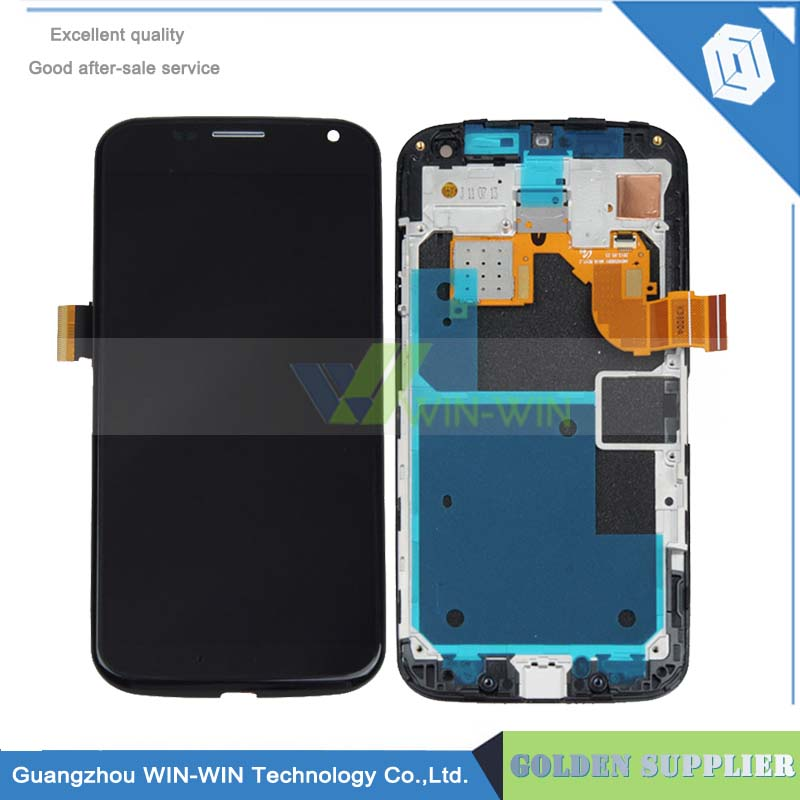 Frame White/Black LCD Display + Touch Screen Digitizer Assembly For Motorola Moto X XT1060 XT1058 XT1056 XT1053 Free Shipping 1 pcs for iphone 4s lcd display touch screen digitizer glass frame white black color free shipping free tools