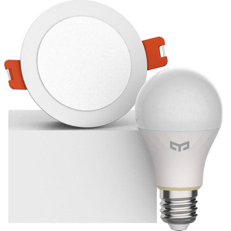 Image 2 - Xiao mi jia yeelight bluetooth сетчатая Версия смарт лампочка и светильник, прожектор работает с yeelight шлюз для mi home app-in Умный пульт управления from Бытовая электроника