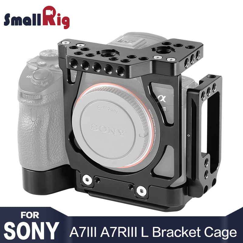 SmallRig A7M3 Half Cage w/ Arca Style Plate L-Bracket for Sony A7III / For Sony A7RIII / a7 iii / a7r3 / A7R III L Plate 2236