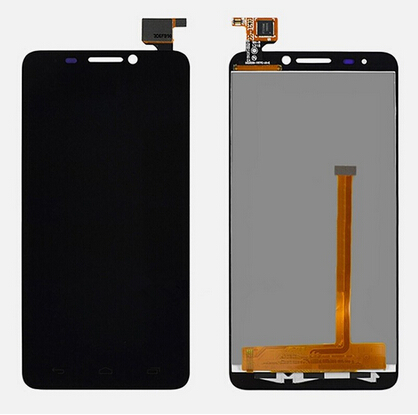 ФОТО LCD Display For Alcatel Ot-6030 6030a 6030D with Touch Screen Digitizer Assembly replacement parts black color