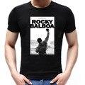 El Boxeador ROCKY BALBOA Pose Camisetas Película ROCK N ROLLO Transpirable Camiseta de Algodón Hombres Sylvester Stallone Camisetas de Manga Corta Tees