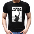 The Boxer ROCKY BALBOA Pose T Shirts Movie ROCK N ROLL Breathable T-Shirt Cotton Men Sylvester Stallone Short Sleeve Tops Tees