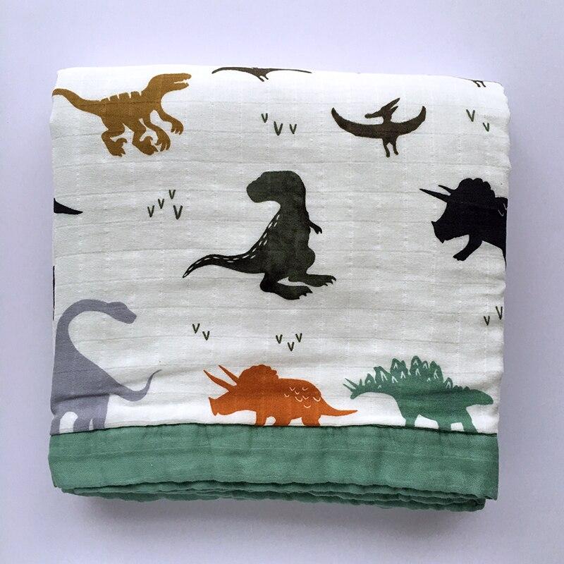 3 Layer Bamboo Cotton Baby Blanket ( 6 Layer Gauze) Baby Warp For Newborn Lovely Blanket Bedding Winter Baby Blanket