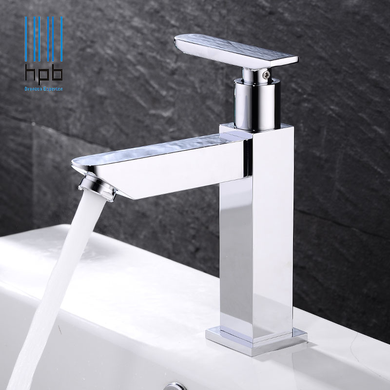 HPB Simple Brass Cold Water tap Basin Sink Bathroom faucet grifos para lavabos torneira banheiro HP9009 hpb square brass basin faucet hot and cold water single hole handle sink bathroom faucets mixer tap grifos para lavabos hp3037