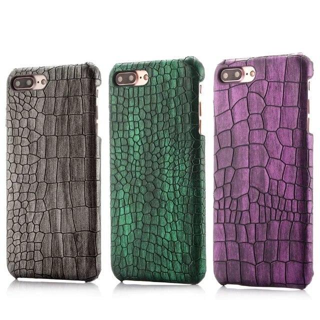 imágenes para Para el iphone 7 6 6 S Plus Cubierta de Lujo Cocodrilo Cocodrilo Lagarto Piel de Serpiente de Cuero de LA PU Caso