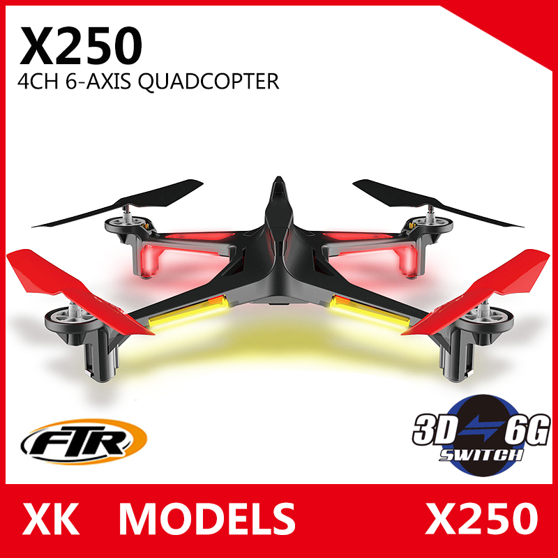 Free Shipping XK Alien X250 4CH 6 Axis RC Quadcopter RTF 2.4G xk x250 4ch 6 axis rc quadcopter rtf 2 4g xk alien x250 free shipping