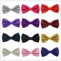 36 colores de la alta calidad classic espesar lazos brillantes hombres de satén sólidos bowtie de la boda del hombre del smoking de la pajarita