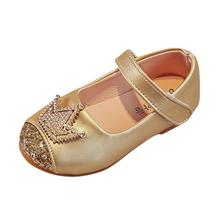 COZULMA Spring Summer Baby Girl Shoes Kids Girls Mary Jane Shoes Baby Girls Leather Shoes Toddler Children Crystal Dress Sandals toddler girl sequin glitter flat sandals little kids mary jane pu leather pumps big children party wedding princess dress shoes