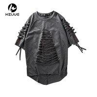HZIJUE 2017 Summer Mens Short Sleeves Hip Hop Creative Graphic Skeleton Print T Shirt Personality Man
