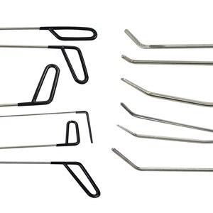 Image 4 - Paintless dent onarım kanca araçları itin çubuklar göçük kaldırma araçları Paintless Dent onarım araçları araba gövde onarımı kiti