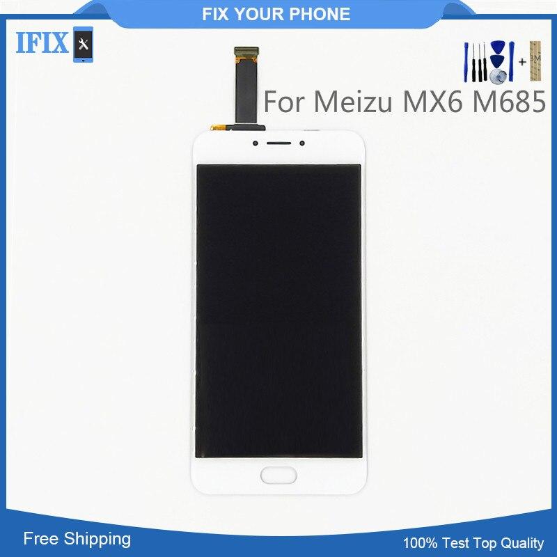 ЖК-дисплей для Meizu MX6 M685 ЖК-дисплей Дисплей планшета с Сенсорный экран Стекло Панель сборки Замена без битых пикселей