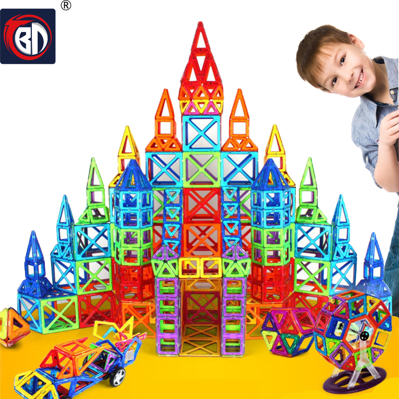 BD Magnetic Blocks Standard Size DIY Magnetic blocks Magnet Pulling Magnetic Building Blocks Assembled Toys For Children Gift 2017 hot sale forest animals children assembled diy wooden building blocks toys baby toy best gift for children ht2265
