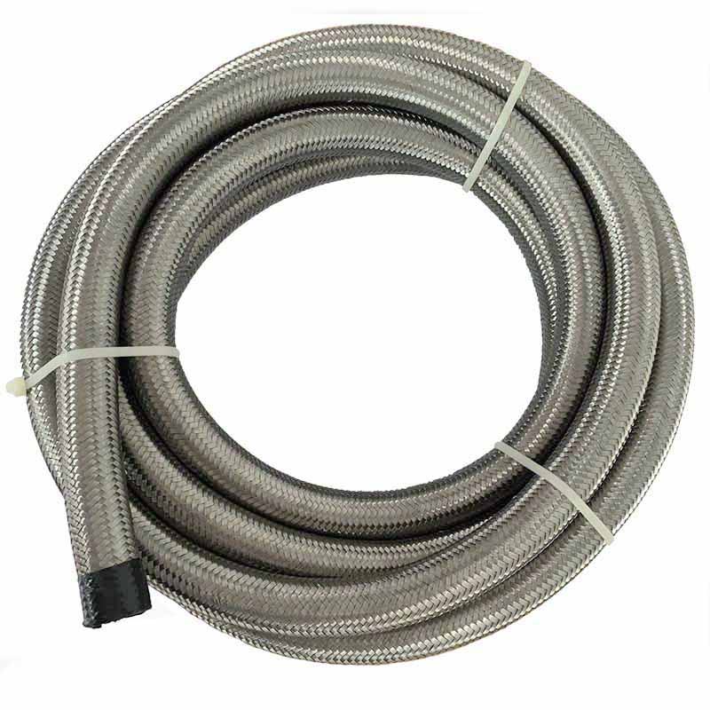 AN 8 Fuel Hose End Adapter Pip 5 Meter Stainless Steel Oil Hose Double Braided Fuel Line ...