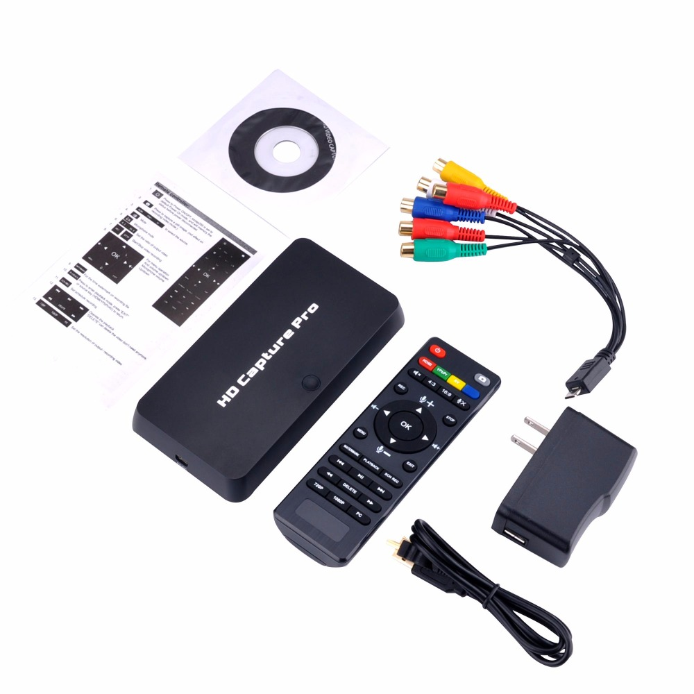 New USB 1080P HD Video Capture Card HDMI Game AV Video Capture Box Recorder +Remote Control Game Recording Can TV Video Playback kuwfi 280hb hdmi video capture capture 1080p video from hdmi blue ray set top box computer game box with mic microphone
