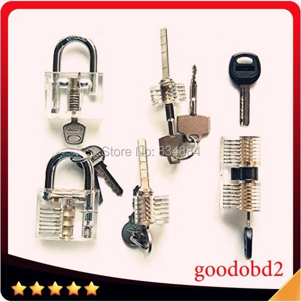 5pcs/Set Cutaway Visable Practice Padlock Lock Training Learning Skill Pick For Locksmith Tool air wedge hakkadeal broken key removal practice padlock set