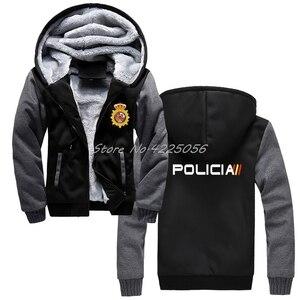 Image 2 - Espana Policia ספרד לאומי משטרת Espana Policia נים מהומות Swat כוחות מיוחדים סווטשירט גברים כותנה לשמור על מעילים חמים