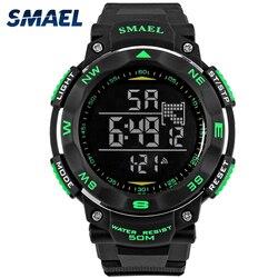 Modne męskie zegarki marka SMAEL cyfrowy zegarek LED wojskowy męski zegarek na rękę 50m wodoodporny zegarek sportowy do użytku na zewnątrz WS1235