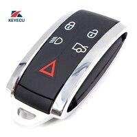 KEYECU Replacement Remote Car Key Shell Case Fob 5 Button for Jaguar X Type S Type XF XFR XJ XJ8 XJR XK XKR