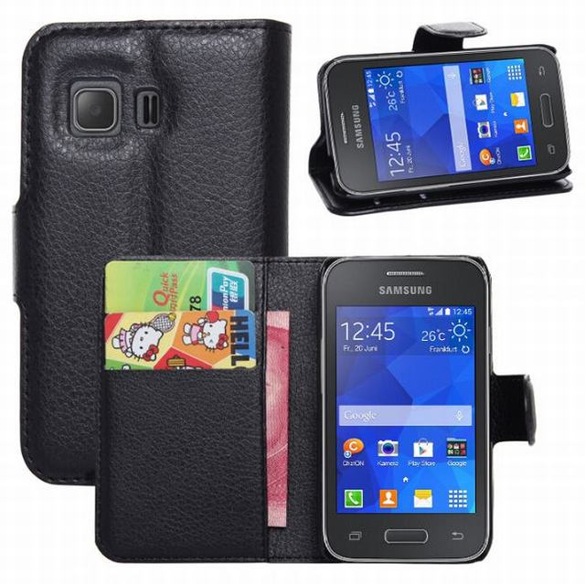 Us 4 25 For Samsung Galaxy Young 2 Case Cover New 2014 Luxury Flip Leather Wallet Stand Phone Case Cover For Samsung Galaxy Young2 G130h On