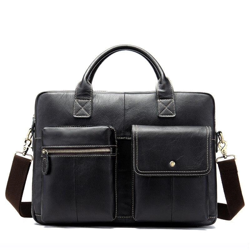 Mens Genuine Leather Handbag Cowhide One-shoulder Slanting Bag Mens Business Briefcase Mens BagMens Genuine Leather Handbag Cowhide One-shoulder Slanting Bag Mens Business Briefcase Mens Bag