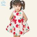 Bobo Choses Toddler Girls Vestido de Verano Sin Mangas de Punto de Algodón Chaleco Cabritos Del Vestido Del Verano Para Las Niñas Vestido de Verano Los Niños Coreanos