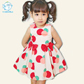 Toddler Girls Summer Dress Bobo Choses Sleeveless Cotton Dot Vest Dress Kids Summer Dress For Girls Korean Children Summer Dress