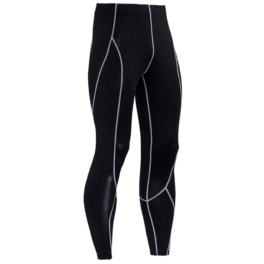 2017 New Men Compression Pants Bodybuilding Joggers Fitness Quick Dry Skinny Leggings Mens Pure Color Crossfit Tights Trousers