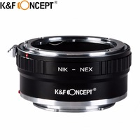 K&F CONCEPT For AI NEX II Camera Lens Mount Adapter Ring For Nikon AI Lens to for Sony NEX Camera Body NEX3 NEX5 NEX5N NEX7