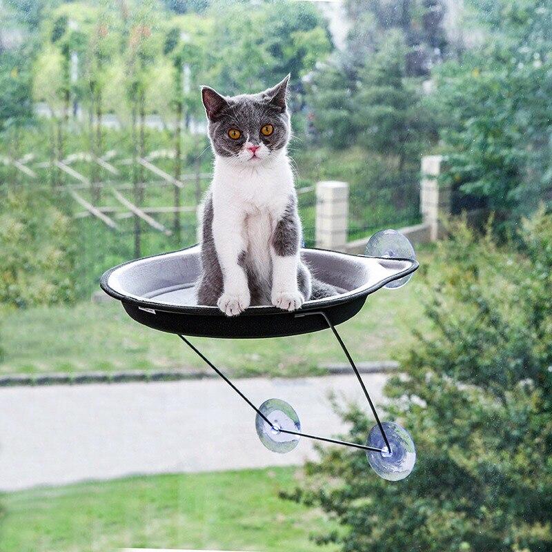 Kat Hangmat Bed Venster Muur Kitten Speelgoed Zuignappen Voor Huisdieren Kat Rest House Gezellige Kooi Opknoping Plank Sunny Seat Lounger Mount Zonden En Botten Versterken