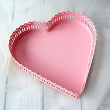 Pink heart cupcake stand dessert iron metal wedding cake tools high quality table decorator candy bar party supplier bakeware(China)