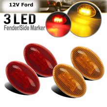 Amber Red Side Fender Marker Assembly For 1999-2010 FORD F150 F350 F450 F550 Full Kit Dually Bed Lights LED
