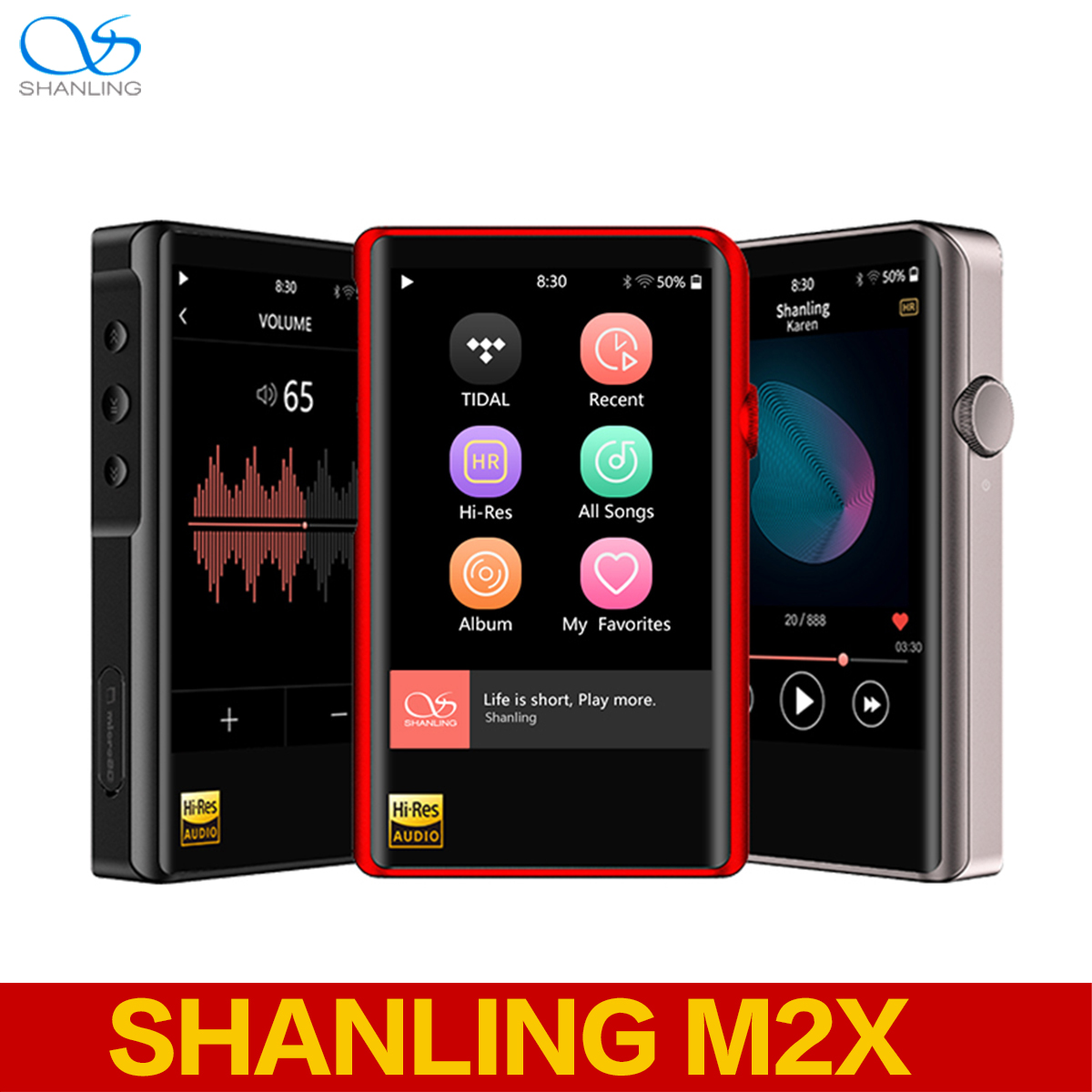 SHANLING M2X AK4490EN DSD256 HzWiFi Hallo-Res <font><b>MP3</b></font> <font><b>Player</b></font> Bluetooth Lossless Hifi Musik-<font><b>Player</b></font> <font><b>DAC</b></font> Flac WAV-<font><b>Player</b></font> image