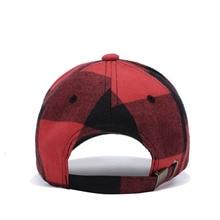 Casual Plaid Cap Snapback Cap