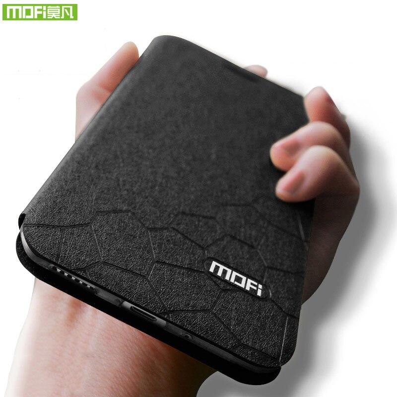 Oneplus 6 t cas couverture Mofi un plus 6 t cas silicone de couverture arrière oneplus 6 t cas en cuir flip hard case support à 6.41 pouce