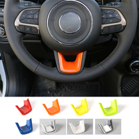 MOPAI Newest Colorful ABS Steering Wheel U-Shaped Decoration Cover for Jeep Renegade 2015 up