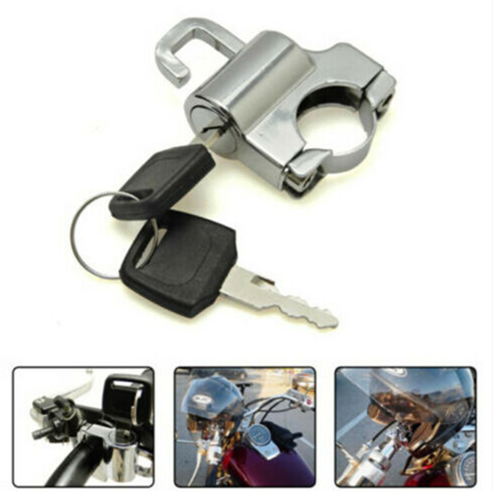 Easy Install Anti-theft Universal Security Durable Bike Motorbike Handle Motorcycle Scooters Portable Helmet Lock Accessories