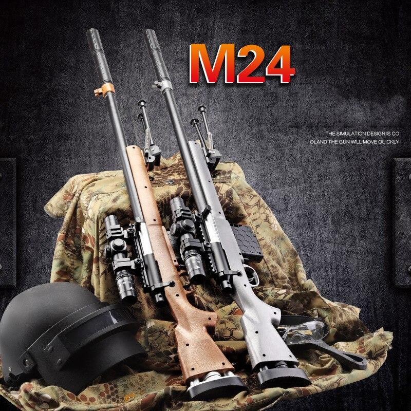 Nouvellement enfants pistolet à fusil jouet manuel fusils de Sniper avec des balles à eau douce Orbeez Armas pour les jeux de CS en plein air jouets pistolet présente