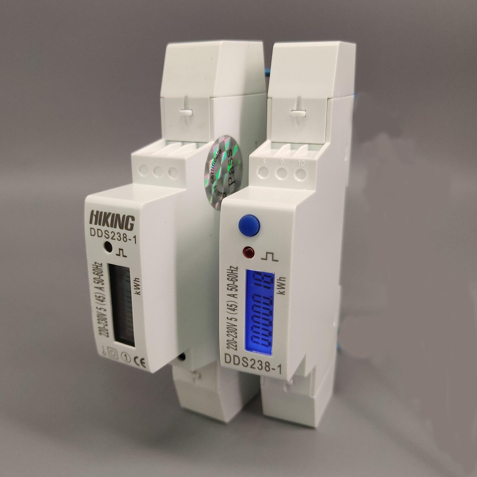 10 A 3*120V//208V 60HZ three phase KWH Watt hour din-rail energy meter LCD 100