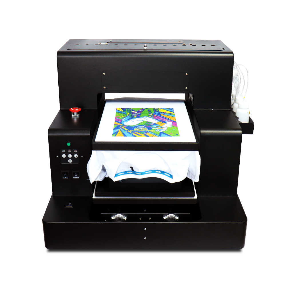 Multicolor A3 + Ukuran Digital DTG Pakaian Cetak Gelap Warna Cahaya Flatbed Printer untuk T SHIRT Pakaian Phone Case