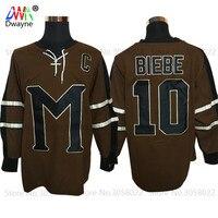 2017 Dwayne Mens Movie Ice Hockey Jersey Vintage 10 Biebe Mystery Alaska Movie Jersey Winter Wear
