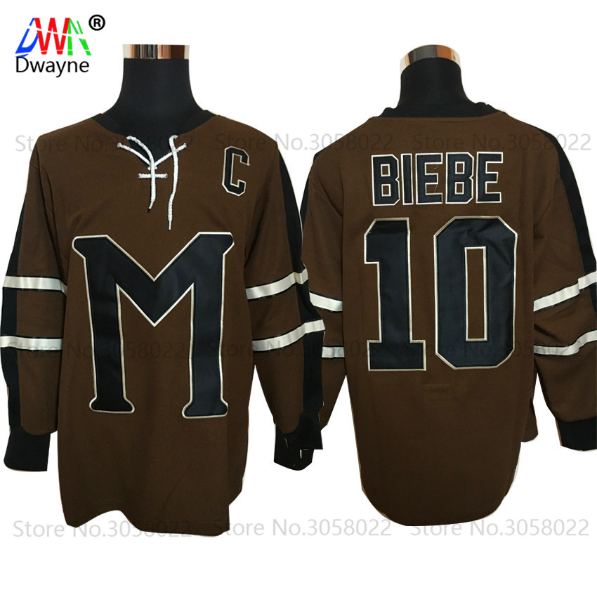 2017 Dwayne Mens Movie Ice Hockey Jersey Vintage 10 Biebe ...
